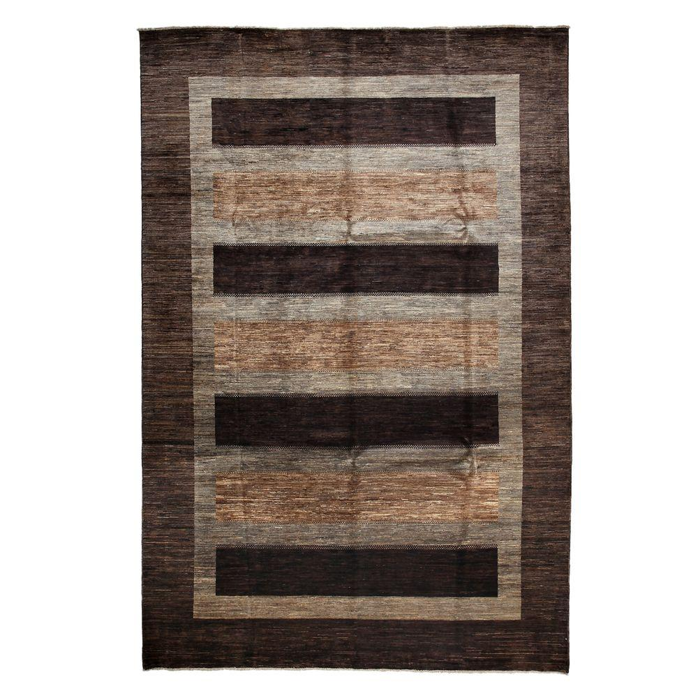 Darya Rugs Modern Brown 8 ft. 7 in. x 12 ft. 9 in. Indoor Area Rug