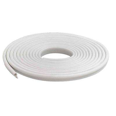 1/2 in. x 17 ft. White Vinyl Gasket Weatherstrip