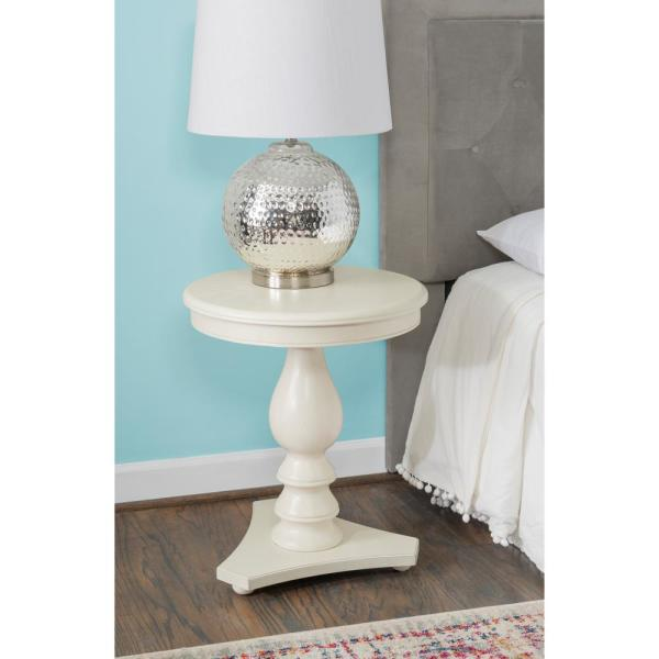 Cati White Accent Side Table