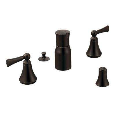 Wynford 2-Handle Bidet Faucet in Oil Rubbed Bronze (Valve Not Included)