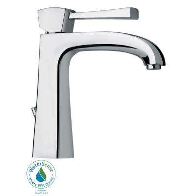 Lady Single Hole Single Handle Low Arc Bathroom Faucet In Chrome
