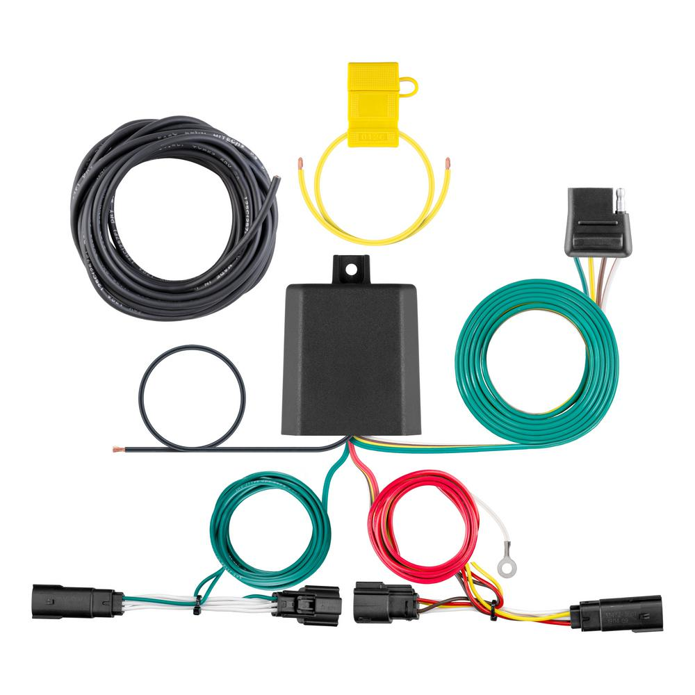 CURT Custom Vehicle-Trailer Wiring Harness, 4-Way Flat Output, Select Ford  Edge Titanium, Quick Electrical Wire T-Connector-56437 - The Home DepotThe Home Depot