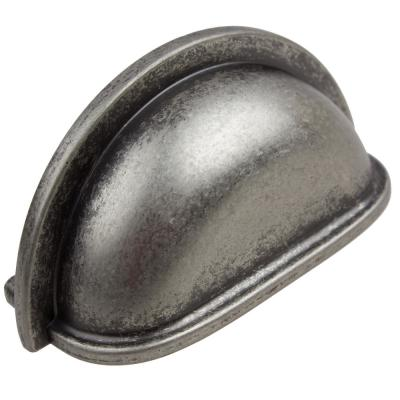 3 in. Center-to-Center Weathered Nickel Classic Bin Cabinet Drawer Pulls (10-Pack)