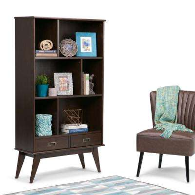 Draper Medium Auburn Brown Storage Open Bookcase