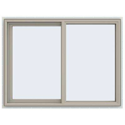 47.5 in. x 35.5 in. V-4500 Series Left-Hand Sliding Vinyl Window - Tan