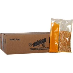 Click here to buy  10.6 oz. Yellow Popcorn, Oil and Seasoning Kit for 8 oz. Poppers (24-Pack).