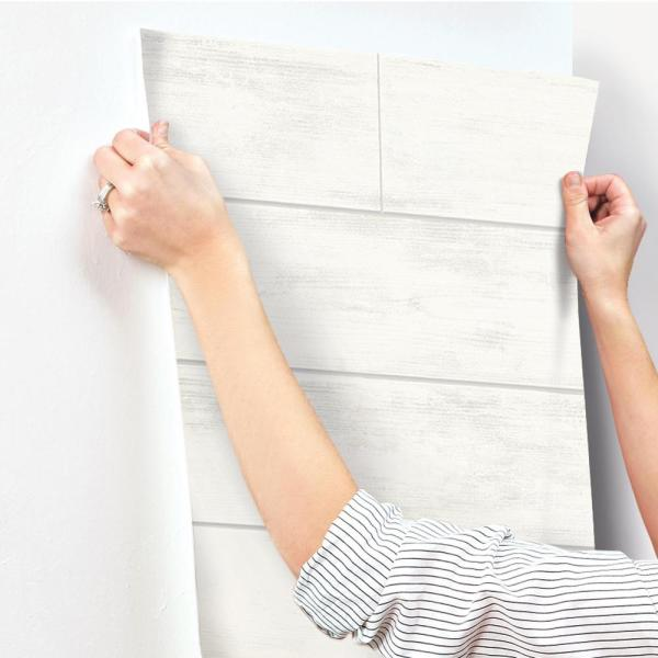 Magnolia Home By Joanna Gaines Shiplap Paper Strippable Roll Wallpaper Covers 56 Sq Ft Mh1560 The Home Depot