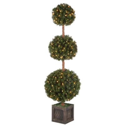 5 ft. Potted Triple Ball Tree