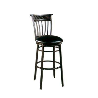 Cottage 26 in. Black Swivel Counter Stool
