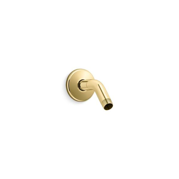 Mastershower 5.375 in. Shower Arm in Vibrant Polished Brass