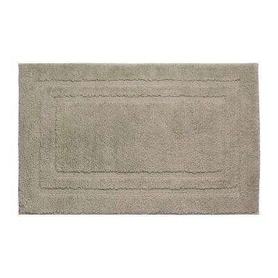Double Border Linen 21 in. x 34 in. Bath Mat