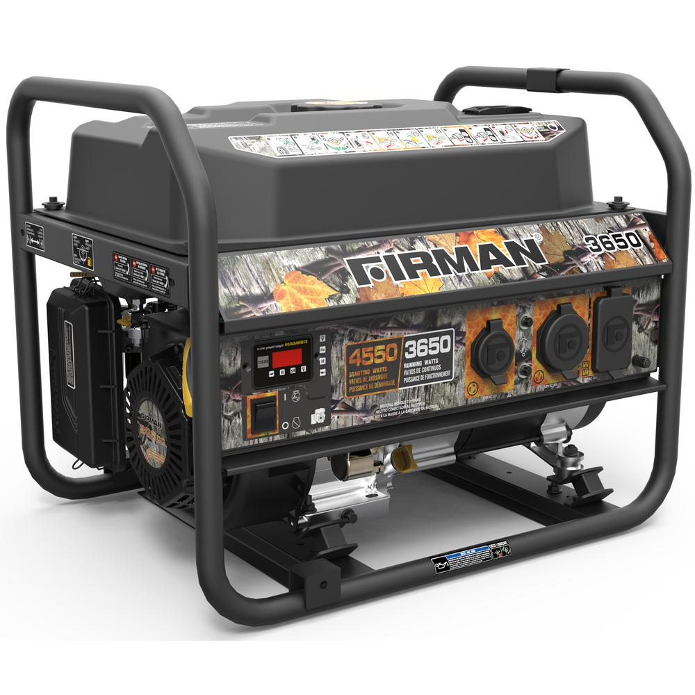 Firman 4550/3650-Watt Recoil Start Gas Portable Generator cETL Certified  With Camo Print