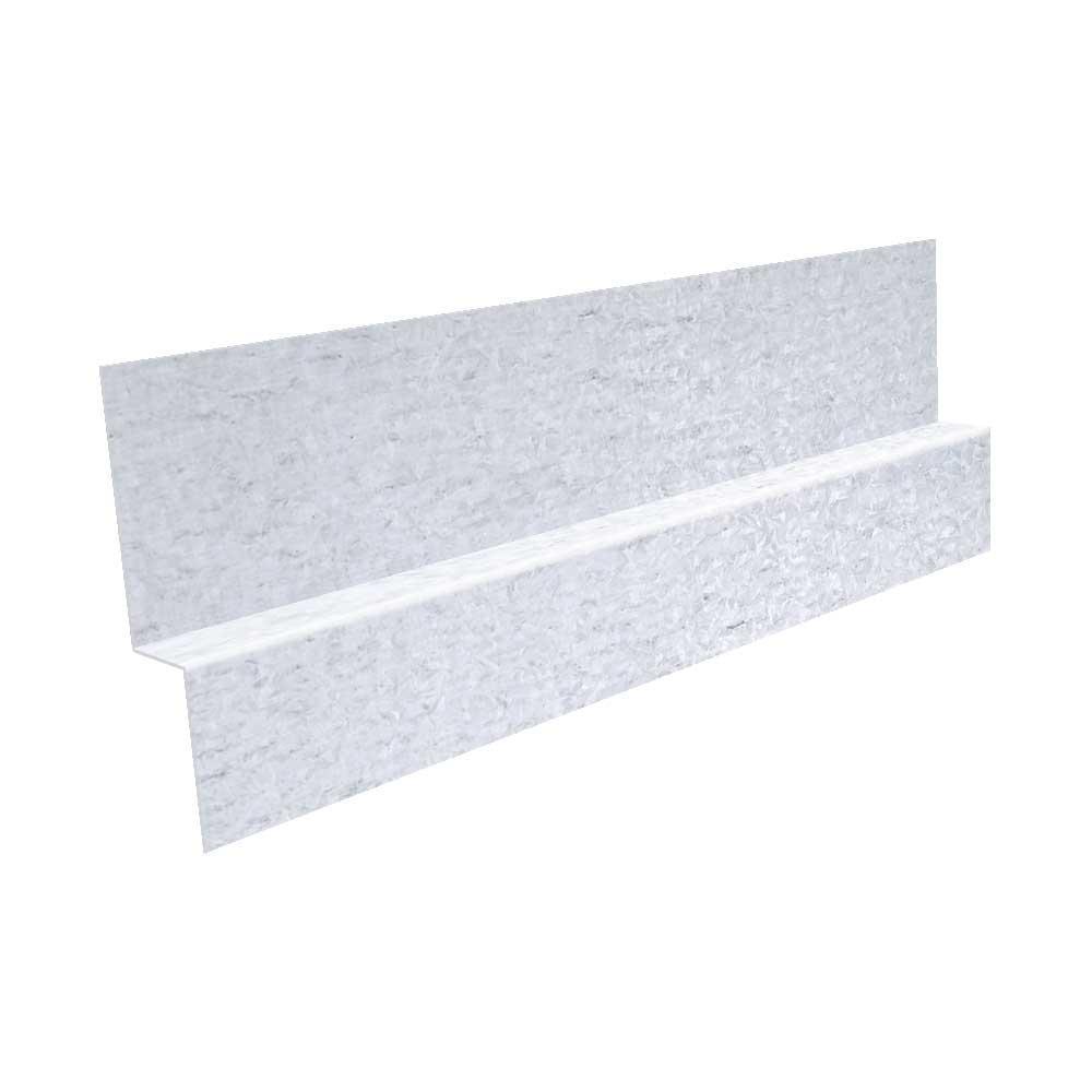 Gibraltar Building Products 1 in. x 10 ft. 26-Gauge Galvanized Steel Z Bar Flashing