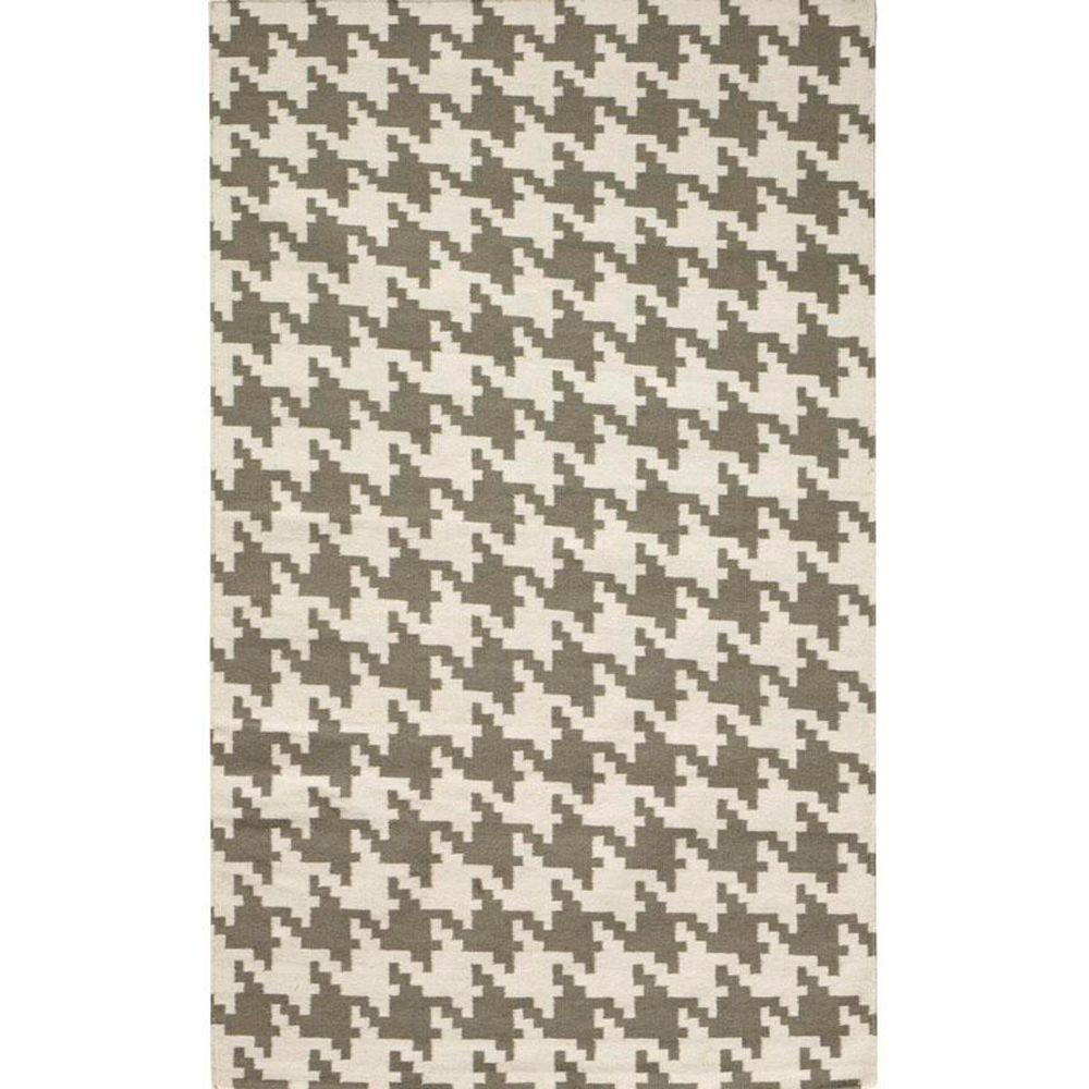 Home Decorators Collection Houndstooth Grey 3 ft. x 8 ft. Area Rug ...