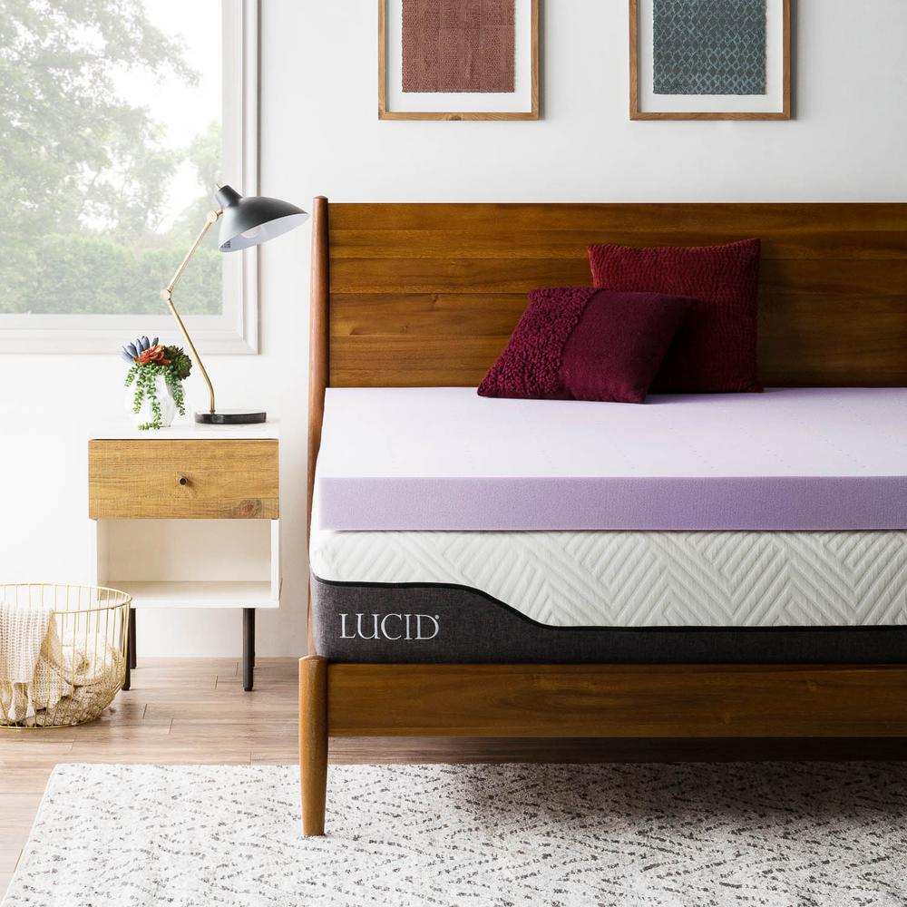 lucid memory foam topper Lucid 4 in. Twin Lavender Memory Foam Topper HDLU40TT30VT   The  lucid memory foam topper