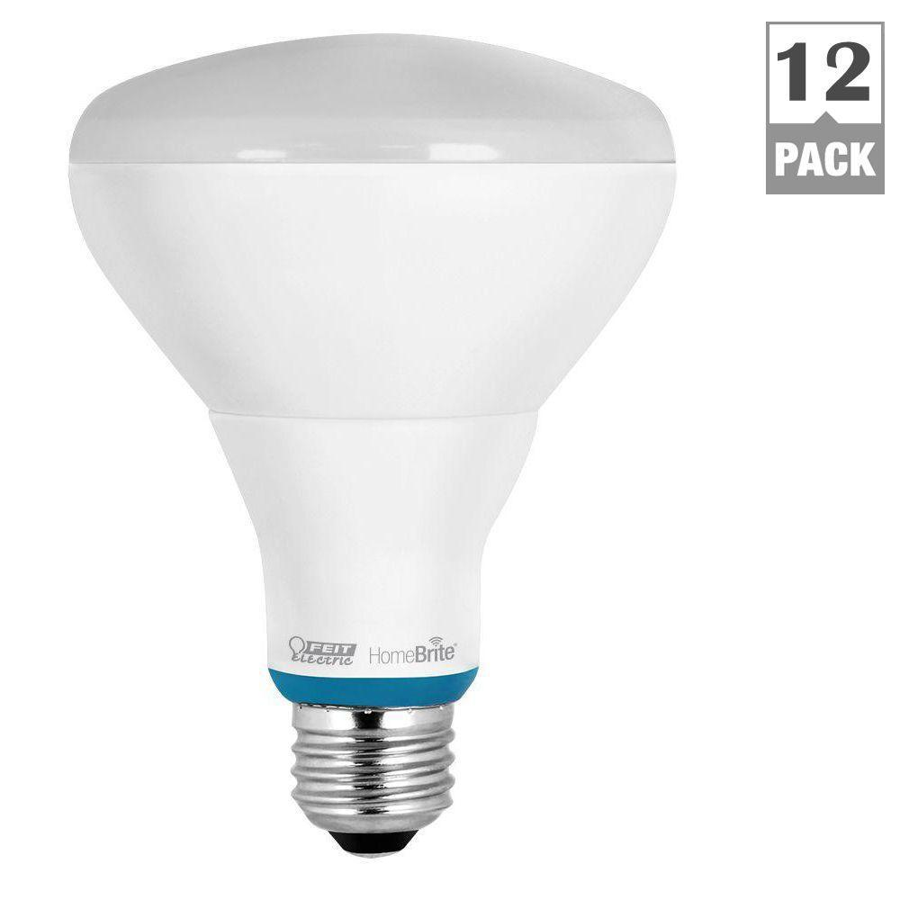 HomeBrite 65W Equivalent Soft White (2700K) BR30 Dimmable Bluetooth Smart LED