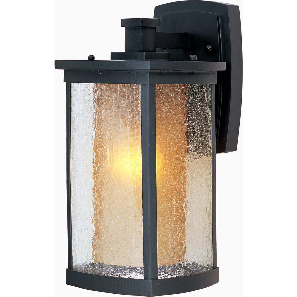 Bungalow 7 in. W 1-Light Bronze Outdoor Wall Lantern Sconce