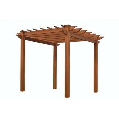 Lakewood 6-1/2 ft. x 6-1/2 ft. Cedar Colored Vinyl Pergola