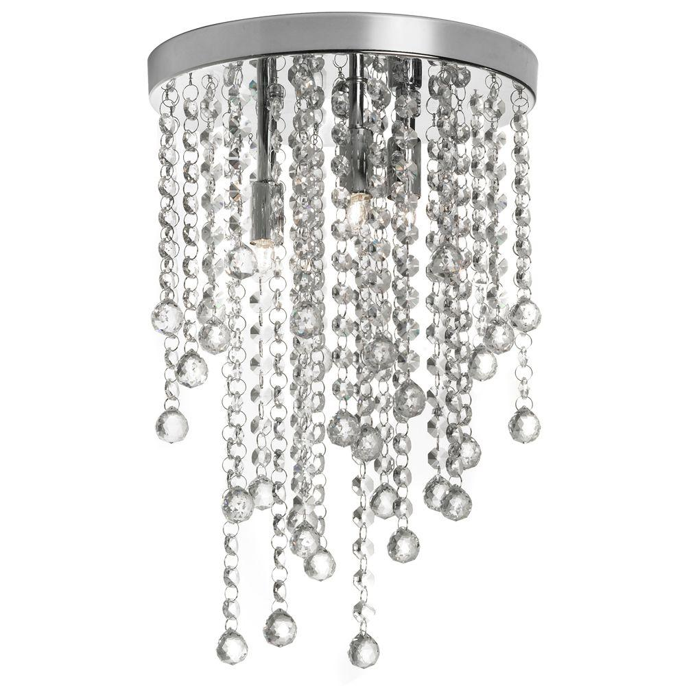 Worldwide lighting mansfield 4 light chrome and smoke crystal semi basilia 3 light polished chrome semi flush mount light with crystal accents arubaitofo Choice Image