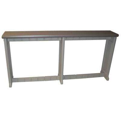Taupe 74 in. Resin Patio Bar