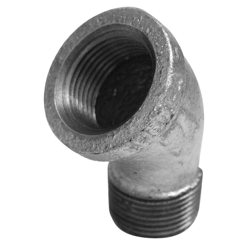 Southland 1/2 in. Galvanized Malleable Iron 45 Degree FPT x MPT Street Elbow