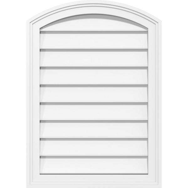 Ekena Millwork 14 In X 24 In Arch Top Surface Mount Pvc Gable Vent Decorative With Brickmould Frame Gvpar14x2402sn The Home Depot