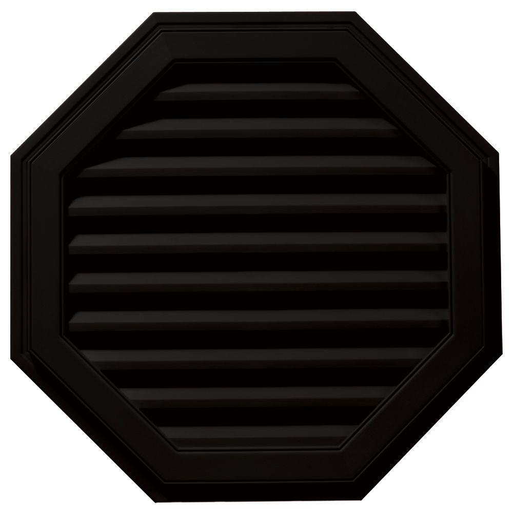 Builders Edge 32 in. Octagon Gable Vent in Black