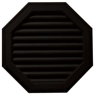 32 in. Octagon Gable Vent in Black