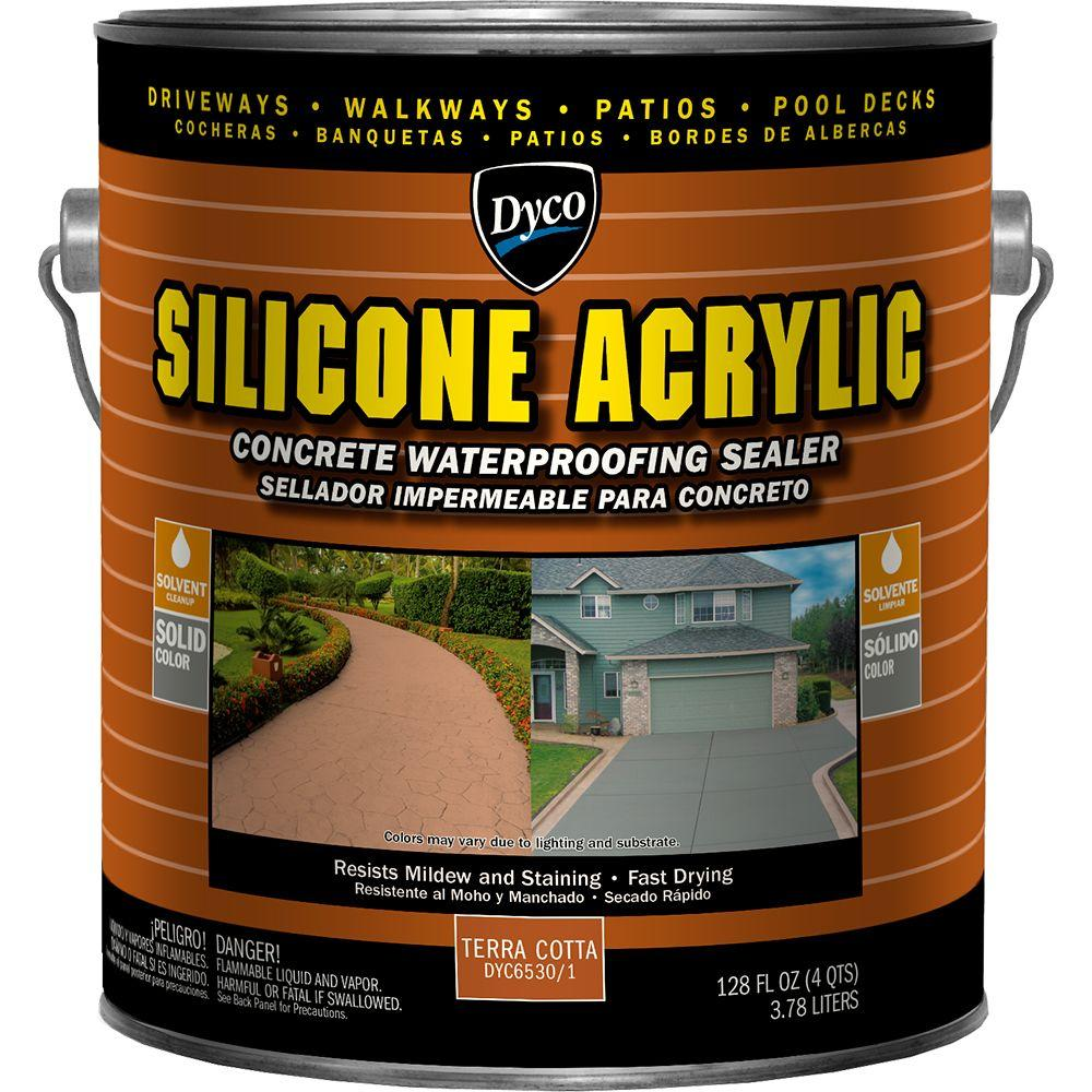 Silicone Acrylic 1 gal. Terra Cotta Exterior Opaque Concrete Waterproofing