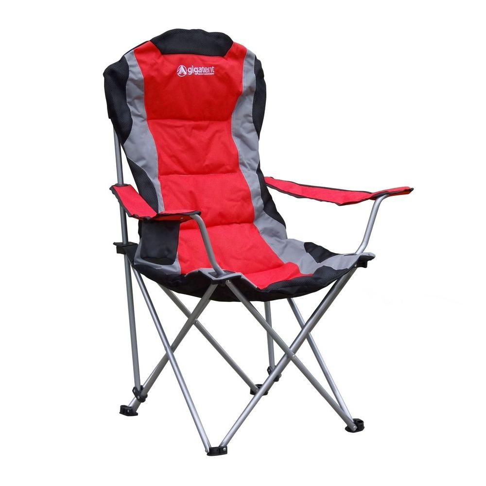 Gigatent Padded Camping Chair In Red Cc005 The Home Depot