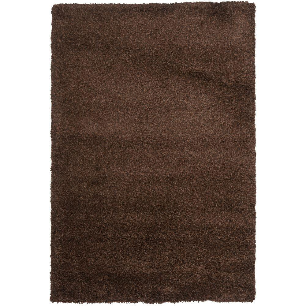 California Shag Brown 11 ft. x 15 ft. Area Rug