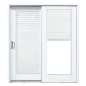 Patio Doors With Built In Blinds stanley doors 60 in. x 80 in. double sliding patio door with