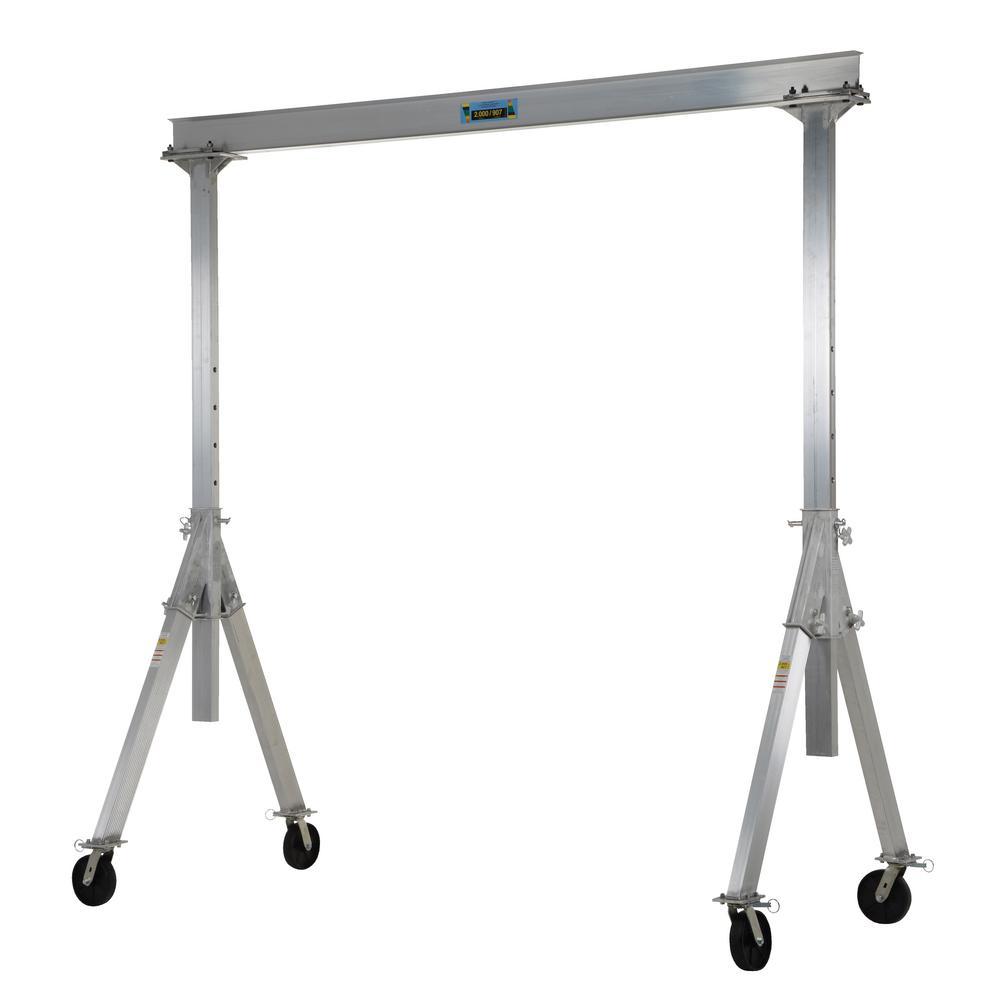 Vestil 2,000 lb. 8 ft. x 8 ft. Adjustable Aluminum Gantry Crane by Vestil