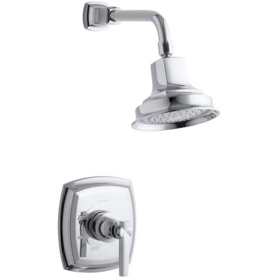 Margaux 1-Spray 6.5 in. Single Wall Mount Fixed Shower Head in Polished Chrome