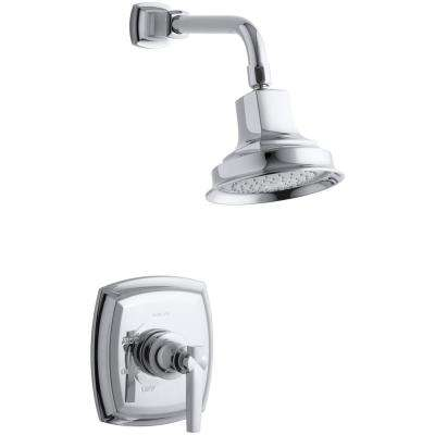 Margaux 1-Spray 6.5 in. 2.5 GPM Fixed Showerhead with Lever Handle in Polished Chrome