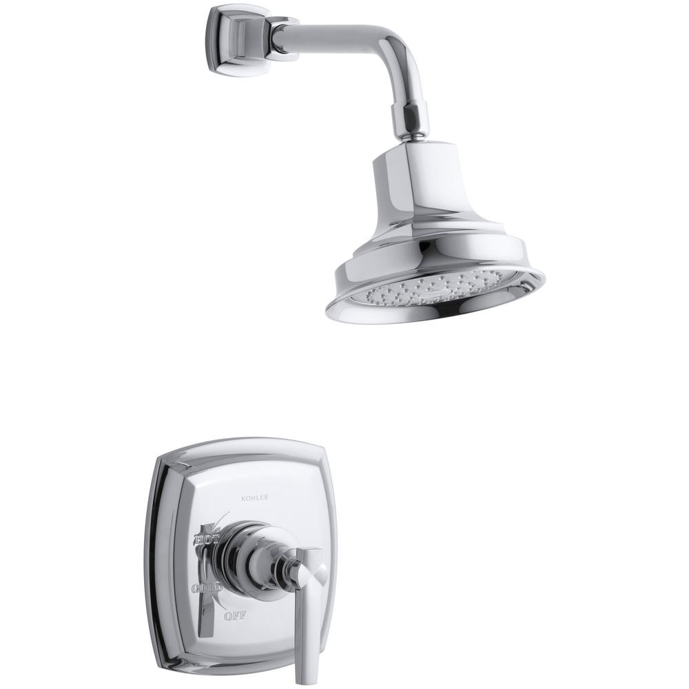 Margaux 1-Spray 6.5 in. 2.5 GPM Fixed Shower Head with Lever