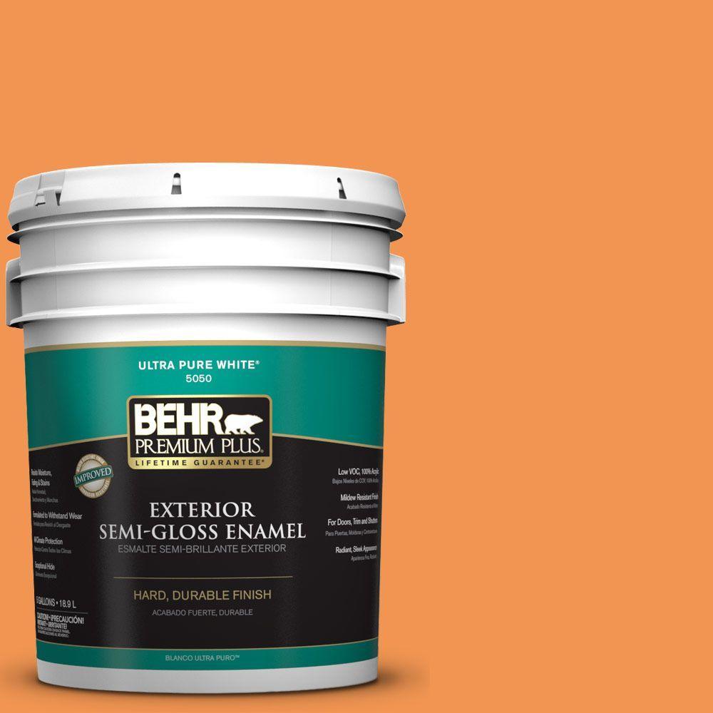 BEHR Premium Plus 5-gal. #P230-6 Toucan Semi-Gloss Enamel Exterior Paint