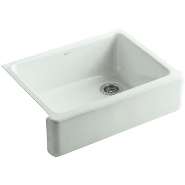 Whitehaven Farmhouse Apron-Front Cast Iron 30 in. Single Basin Kitchen Sink in Sea Salt