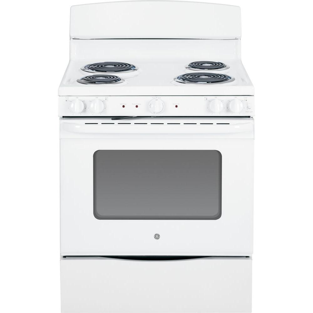 GE 5.0 cu. ft. Electric Range with Self-Cleaning Oven in White