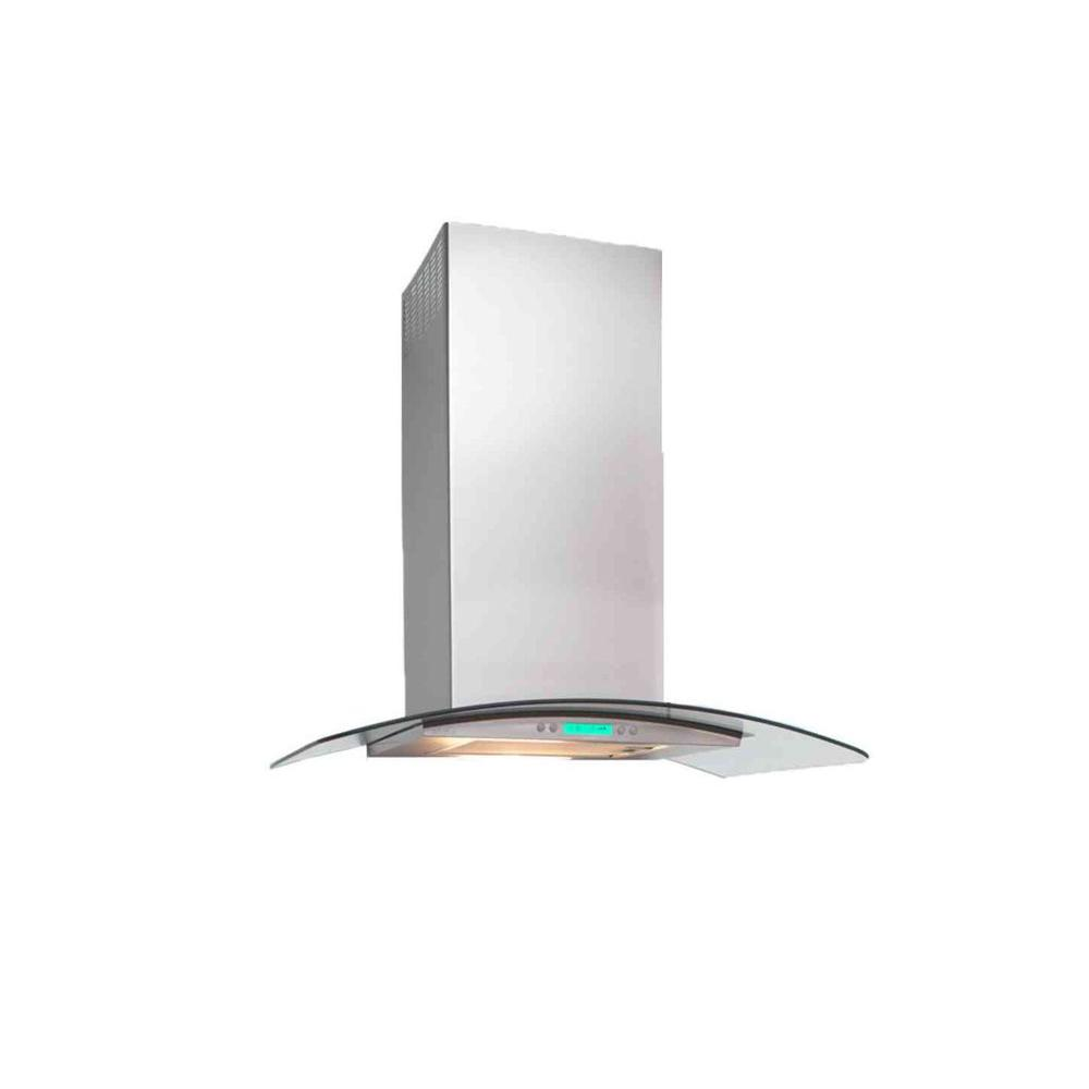 Dekor Glass 36 in. Wall Mount Decorative Range Hood in Stainless