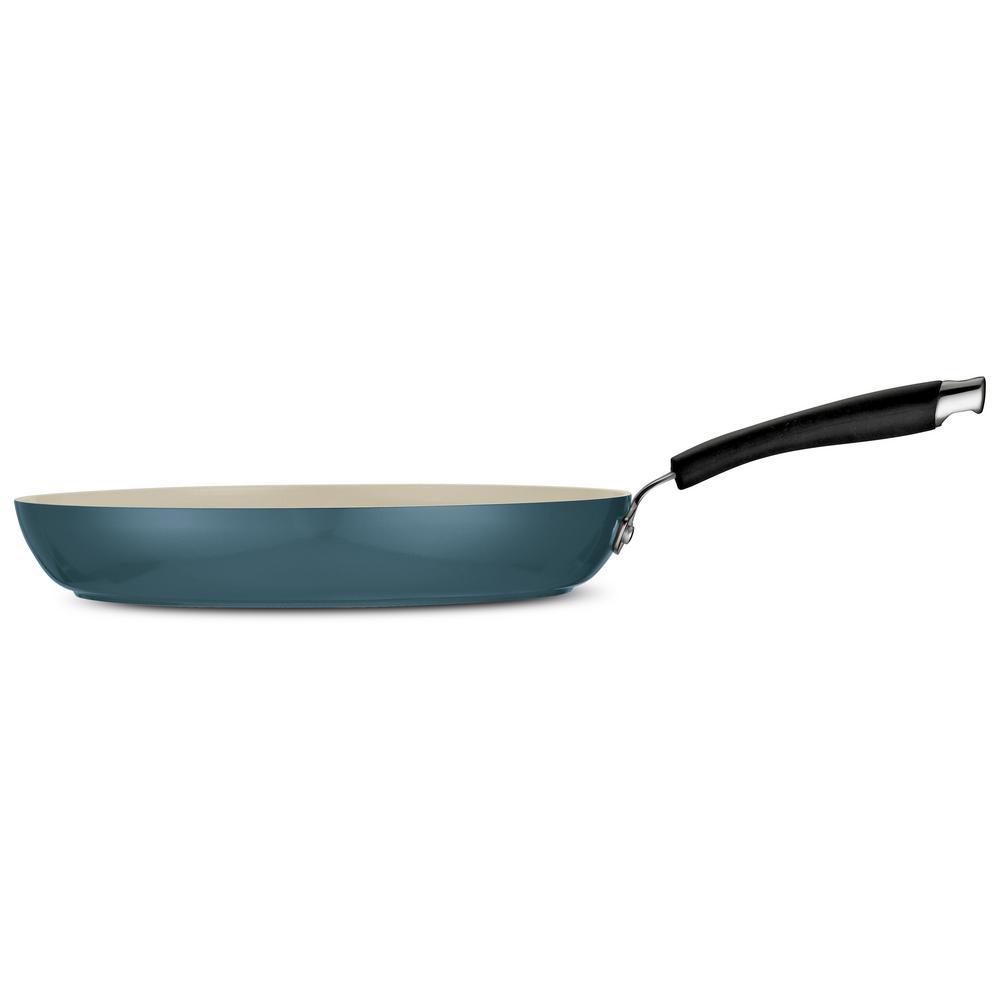 Tramontina Style Ceramica 12 in. Fry Pan in Mediterranean Blue