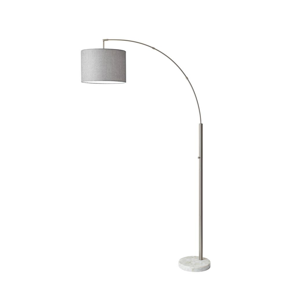 Adesso Bowery 73 5 In Steel Floor Lamp