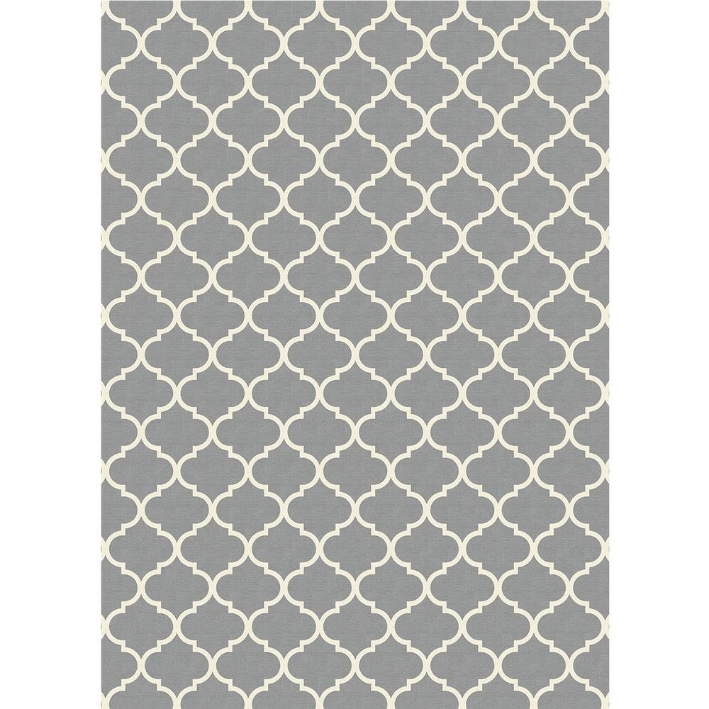 Washable Rugs Home Depot: Ruggable Washable Moroccan Trellis Lt. Grey 5 Ft. X 7 Ft