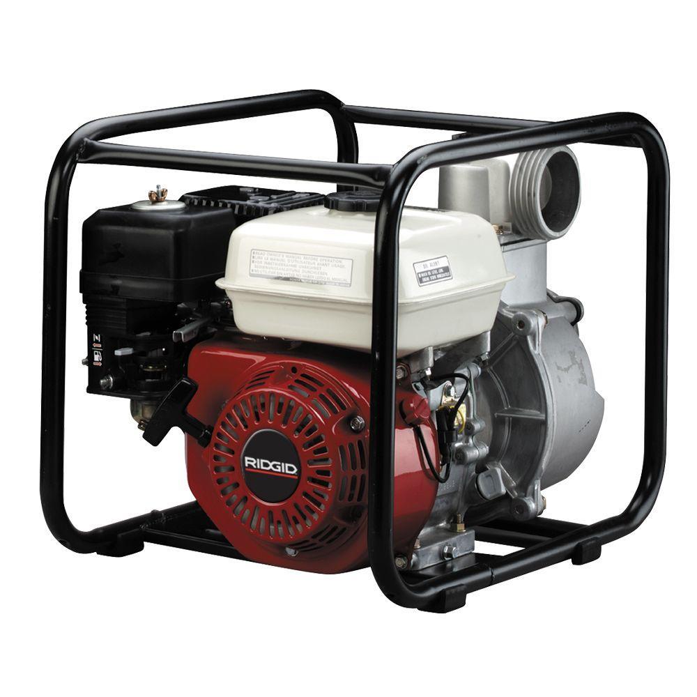 RIDGID 5.5 HP Honda Gas Powered 3 in. Utility Pump
