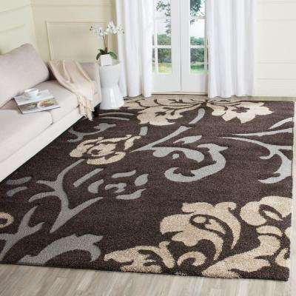florida shag dark brownsmoke 8 ft x 10 ft area rug