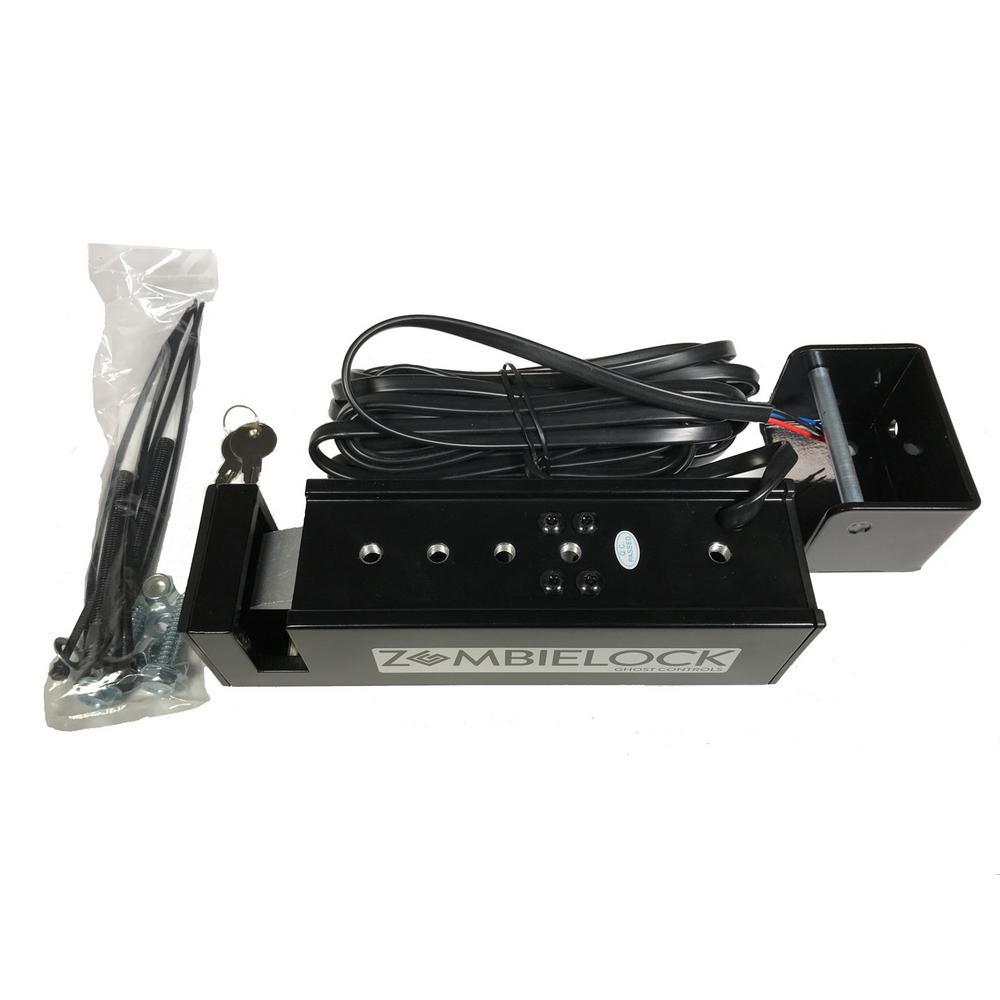 Weatherables Armor Latch Black Nylon Polymer Key-Lockable Gate Latch