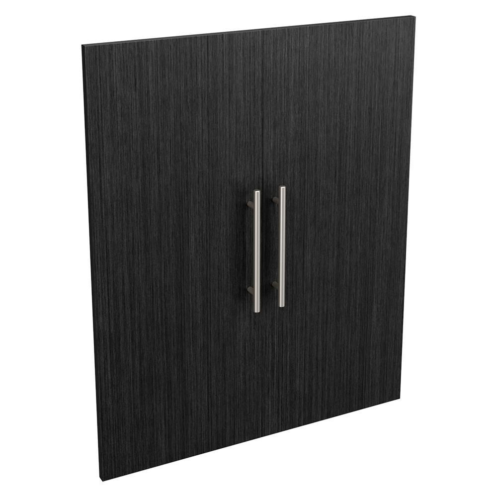 Style+ 25 in. W Modern Noir Closet Door Kit
