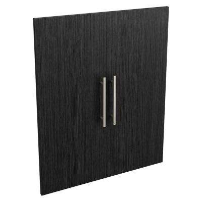 Style+ 0.63 in. D x 24.65 in. W x 30.12 in. H Noir Modern Wood Closet System Door Kit