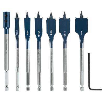 Daredevil Standard Carbon Spade Bit Set Includes Extension (7-Piece)
