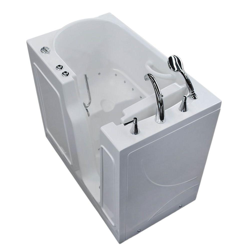 Nova Heated 3.9 ft. Walk-In Air Jetted Tub in White with